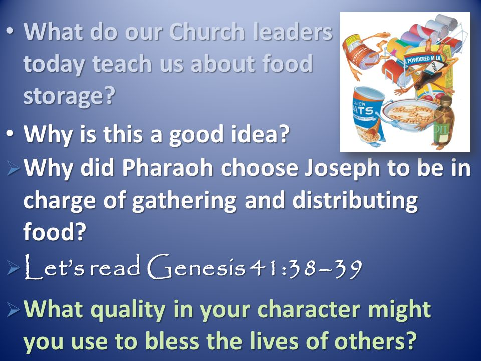 What do our Church leaders today teach us about food storage