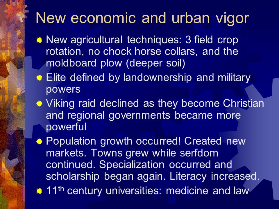 New economic and urban vigor
