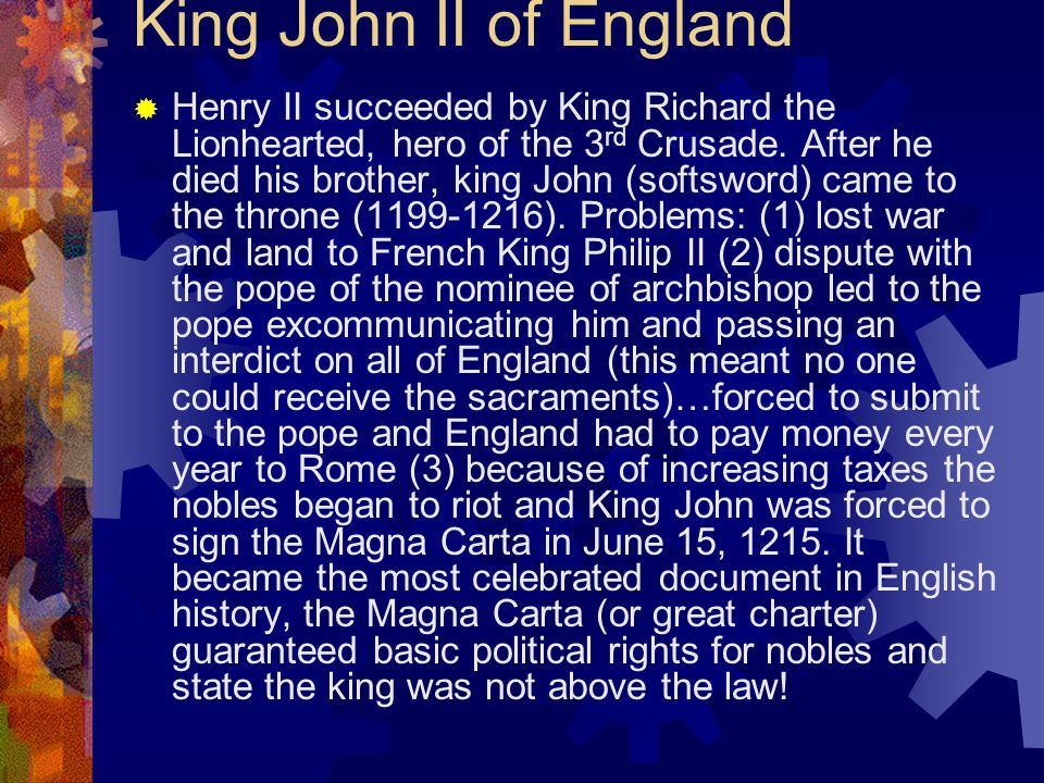 King John II of England