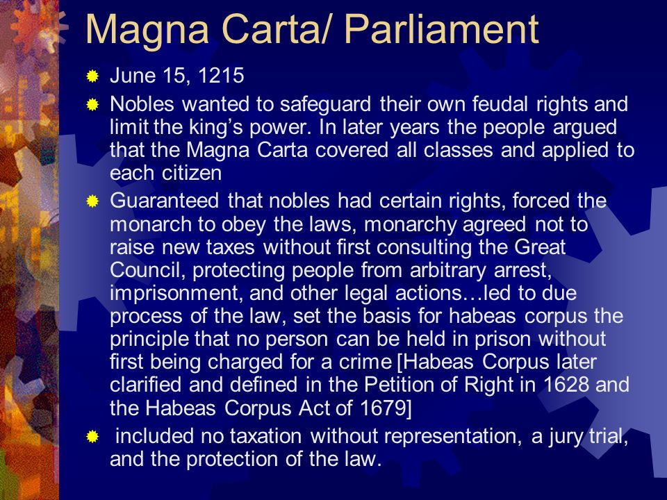 Magna Carta/ Parliament