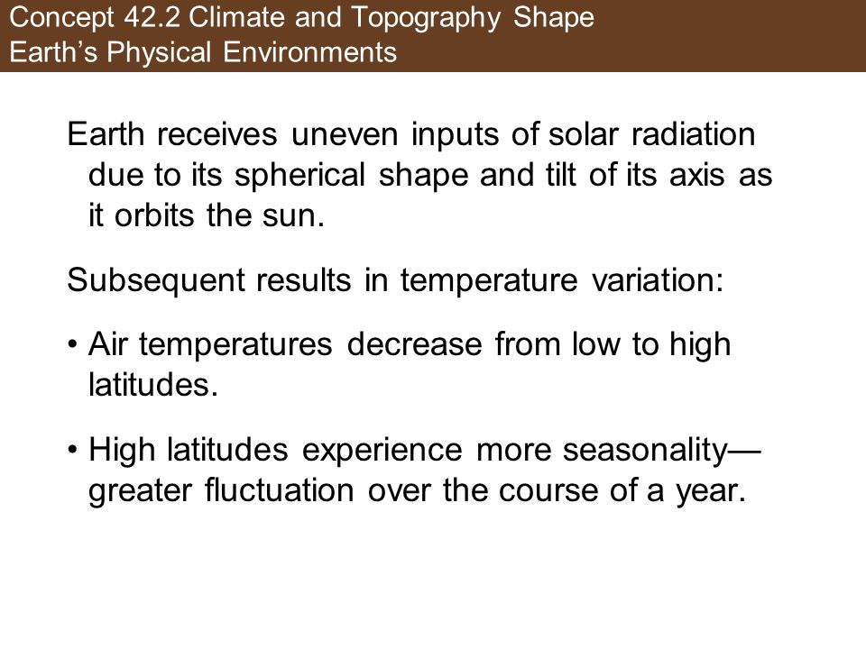Subsequent results in temperature variation: