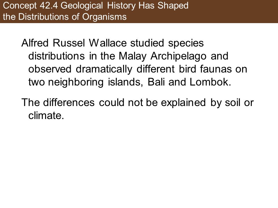 The differences could not be explained by soil or climate.