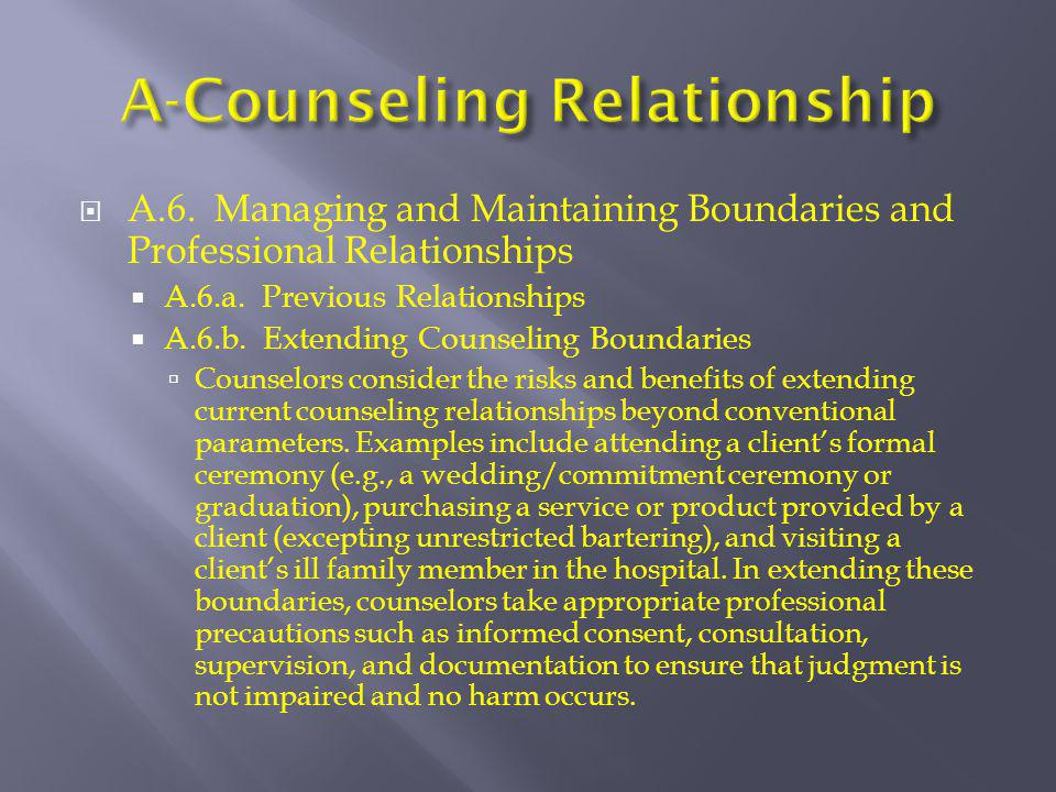 A-Counseling Relationship