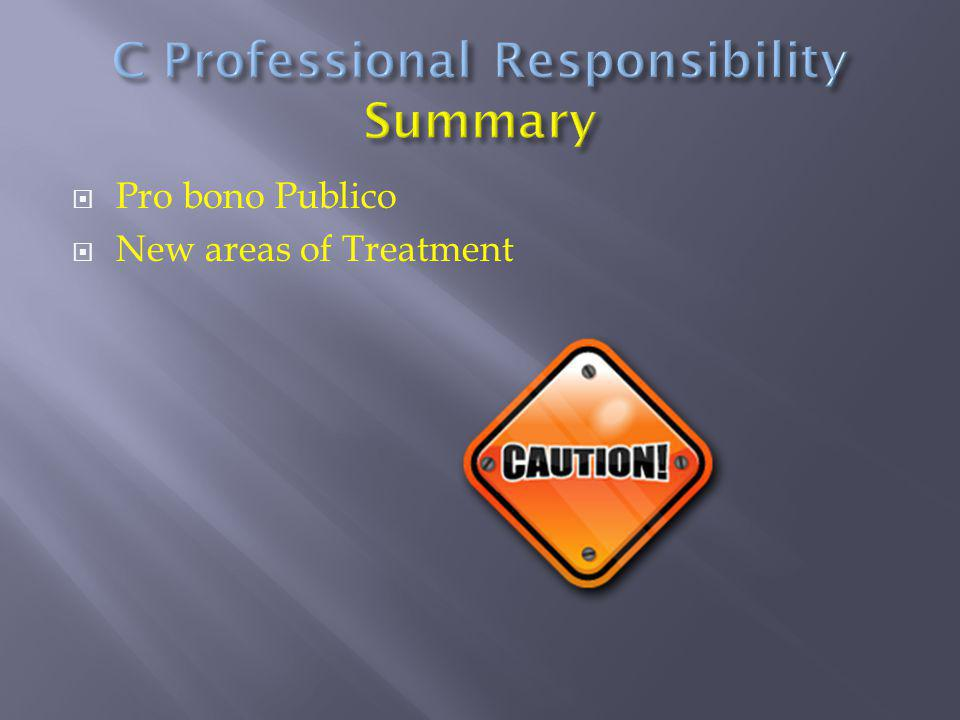 C Professional Responsibility Summary