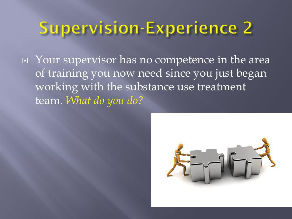 Supervision-Experience 2