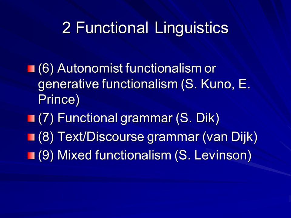 2 Functional Linguistics