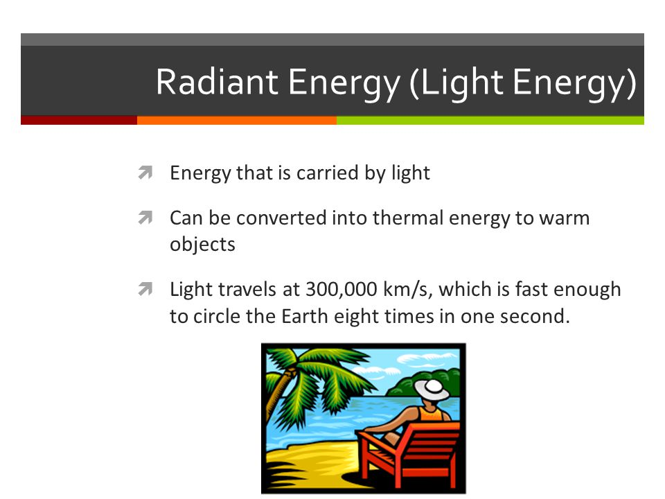 Radiant Energy (Light Energy)