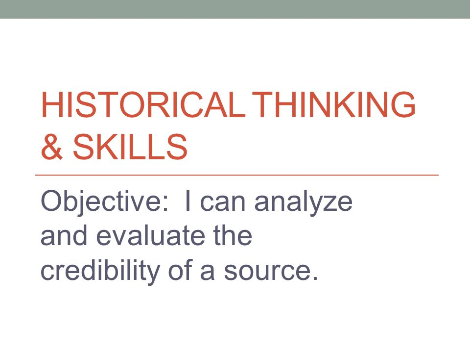 Historical thinking & Skills