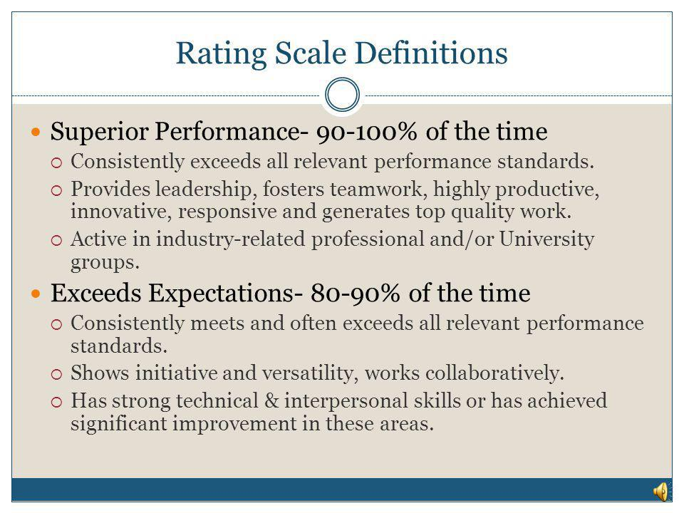 Rating Scale Definitions
