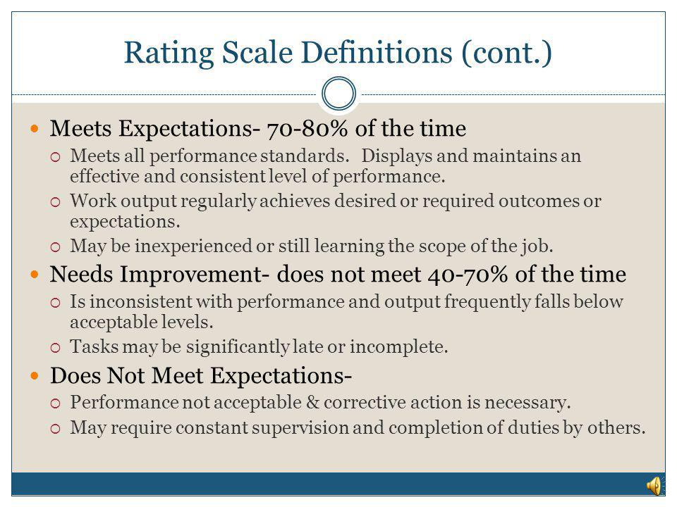 Rating Scale Definitions (cont.)