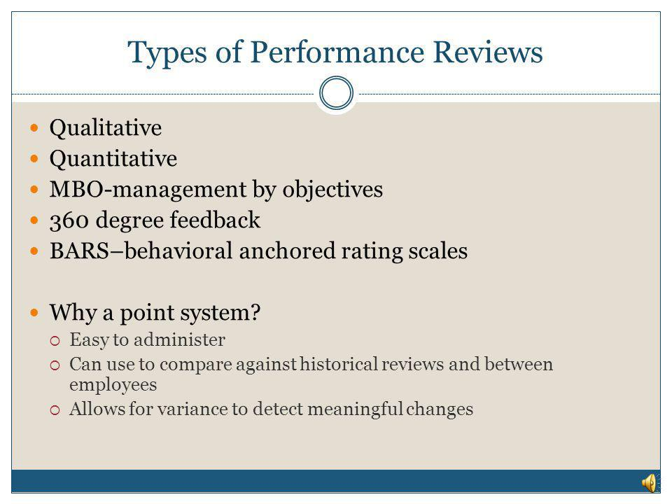 Types of Performance Reviews