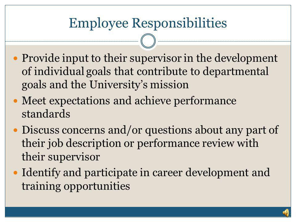 Employee Responsibilities