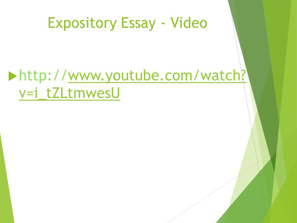 Expository Essay - Video