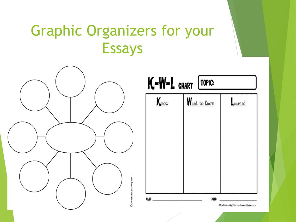 Graphic Organizers for your Essays