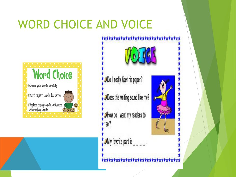 WORD CHOICE AND VOICE