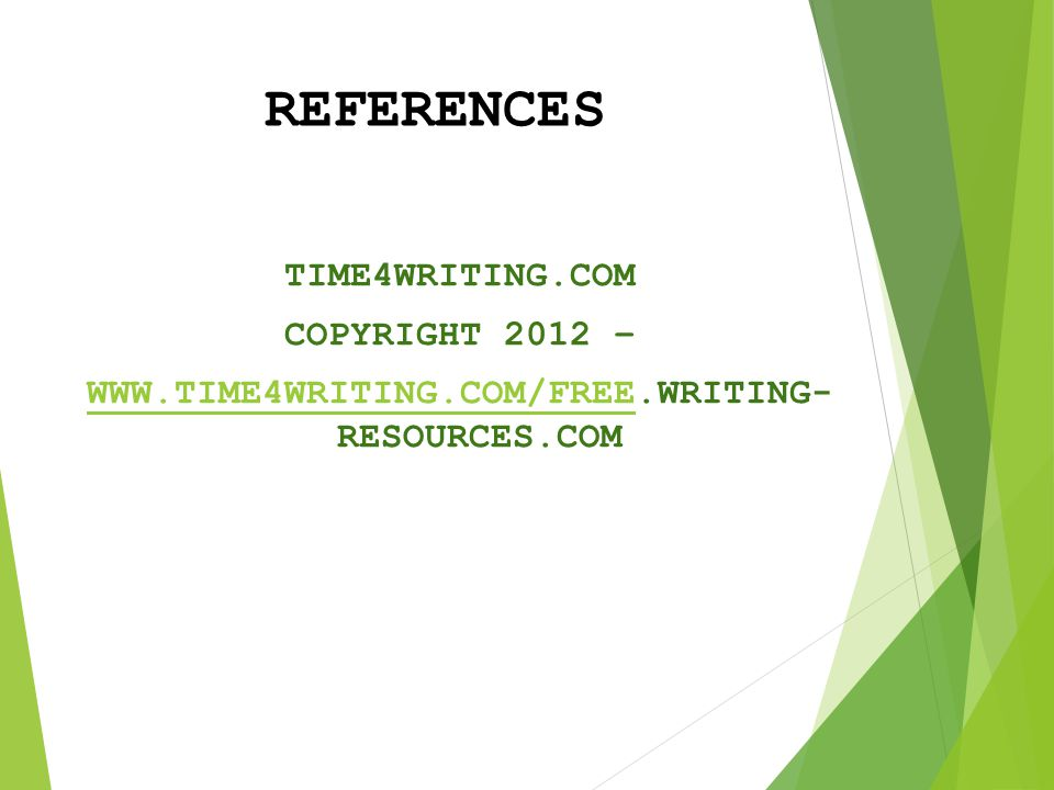 WWW.TIME4WRITING.COM/FREE.WRITING- RESOURCES.COM