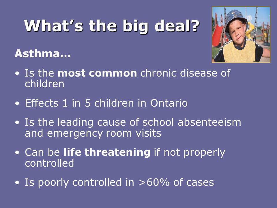 What's the big deal Asthma…