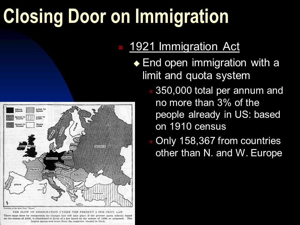 Closing Door on Immigration