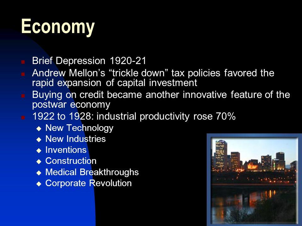Economy Brief Depression 1920-21
