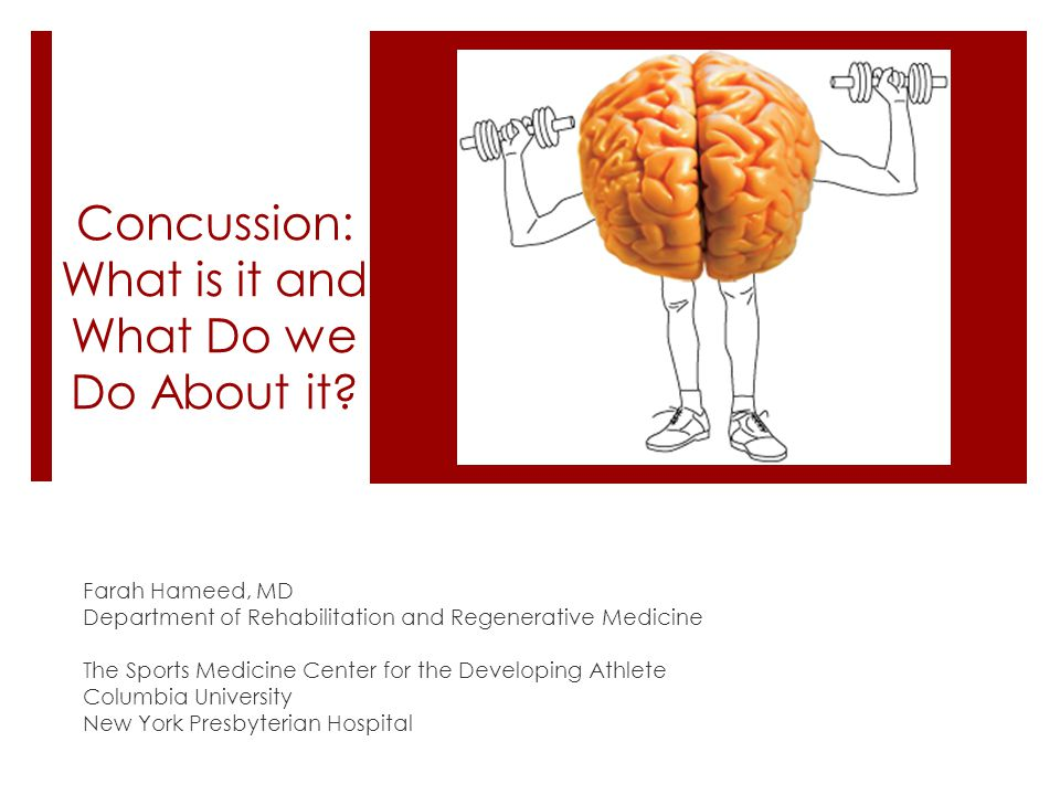 Concussion: What is it and What Do we Do About it