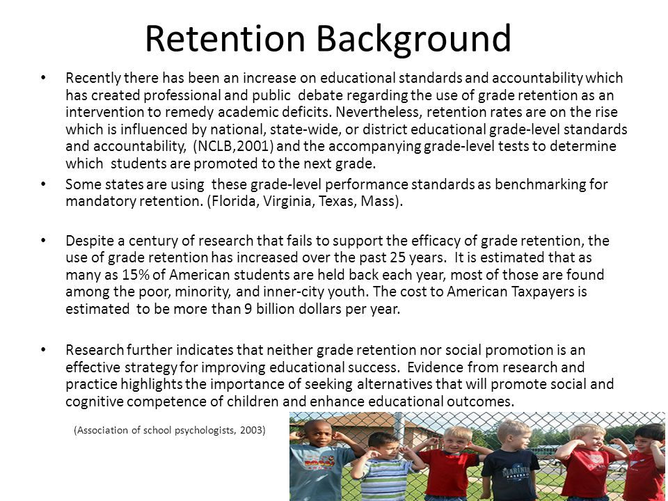 Retention Background