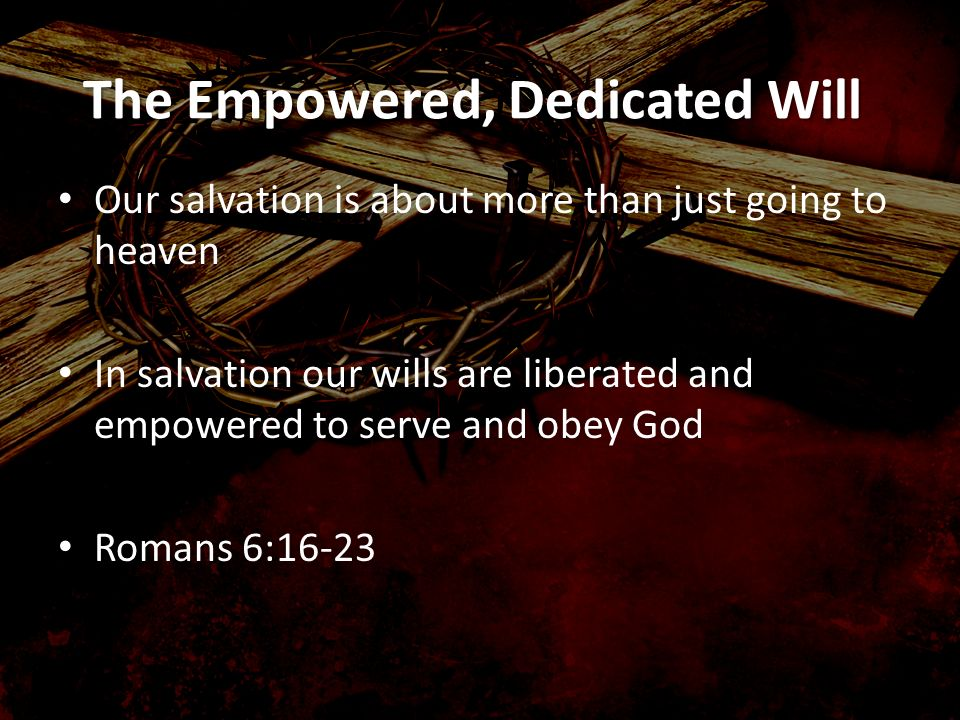 The Empowered, Dedicated Will