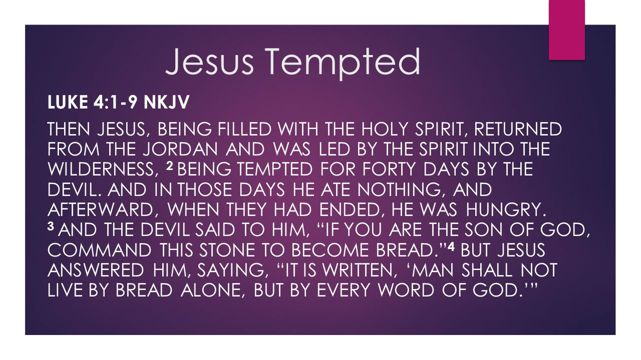 Jesus Tempted Luke 4:1-9 NKJV
