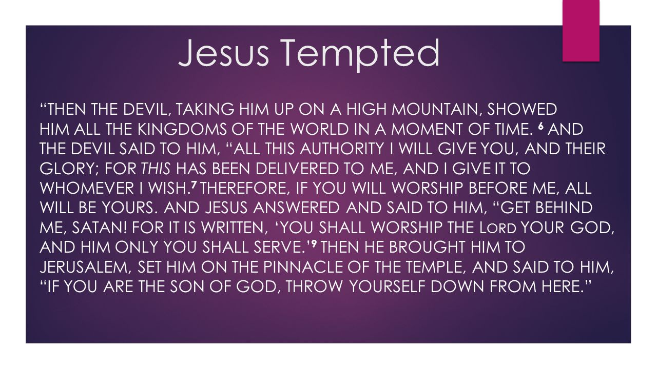 Jesus Tempted
