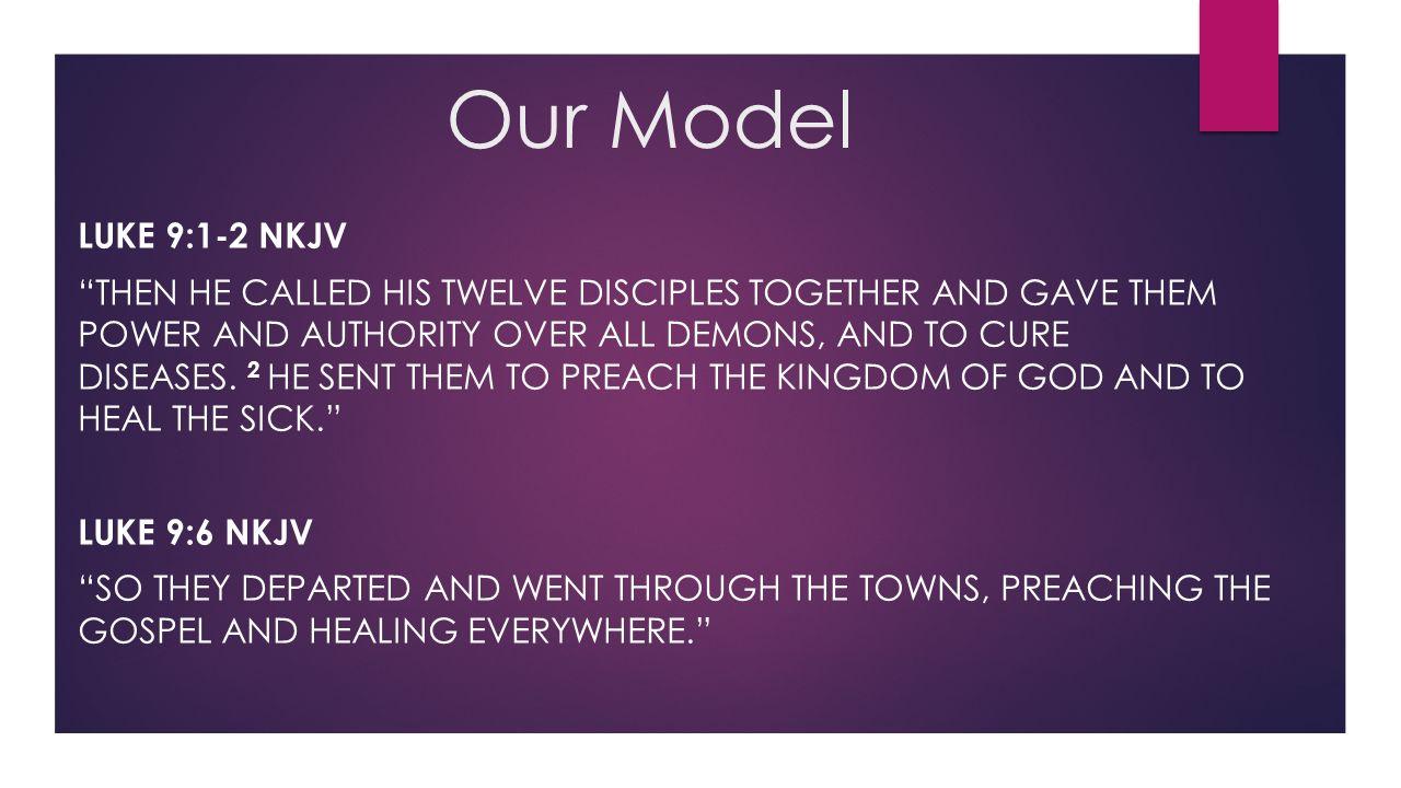 Our Model Luke 9:1-2 nkjv.