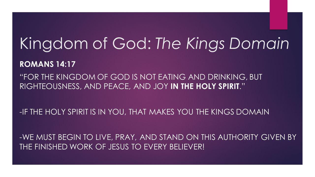 Kingdom of God: The Kings Domain