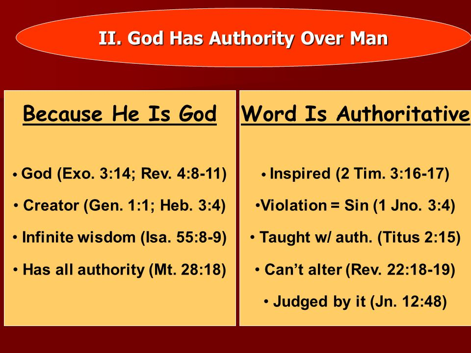 Because He Is God Word Is Authoritative