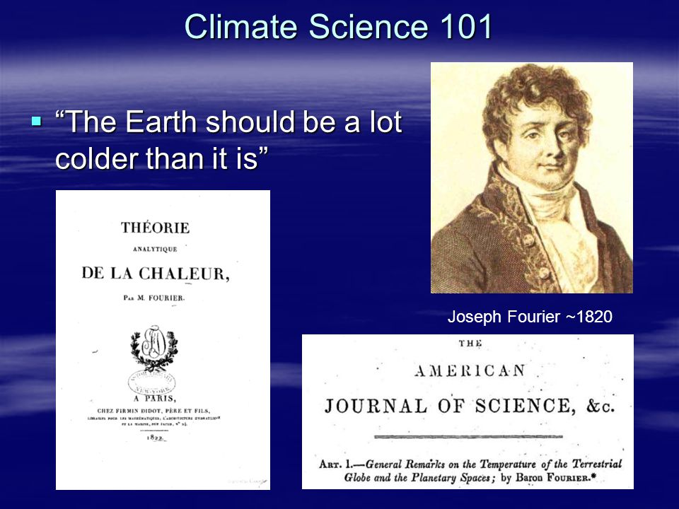 Climate Science 101 The Earth should be a lot colder than it is