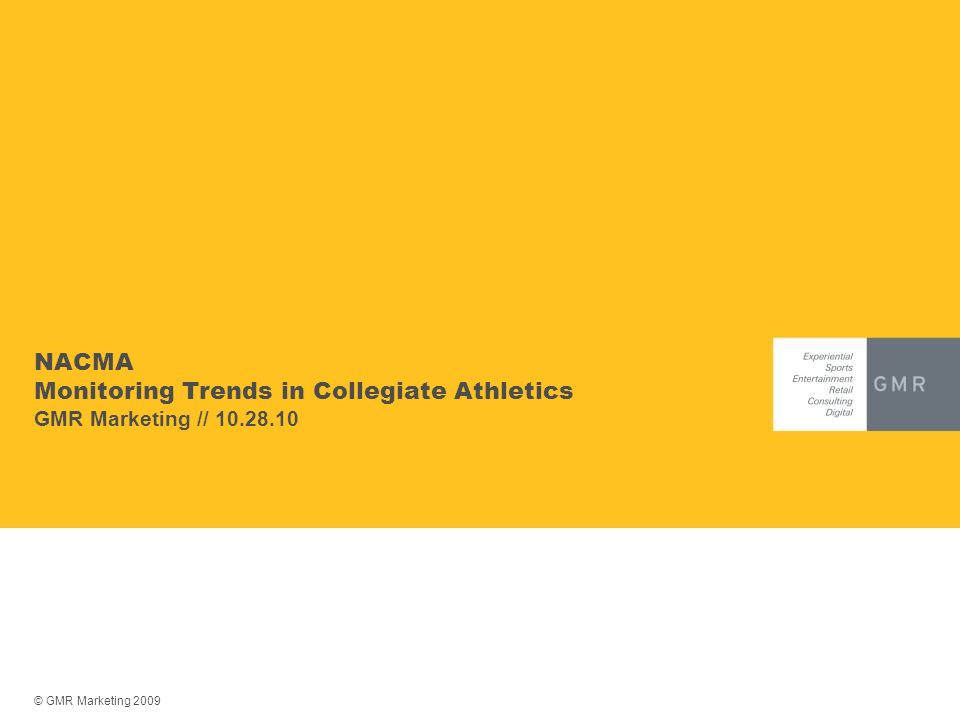 NACMA Monitoring Trends in Collegiate Athletics