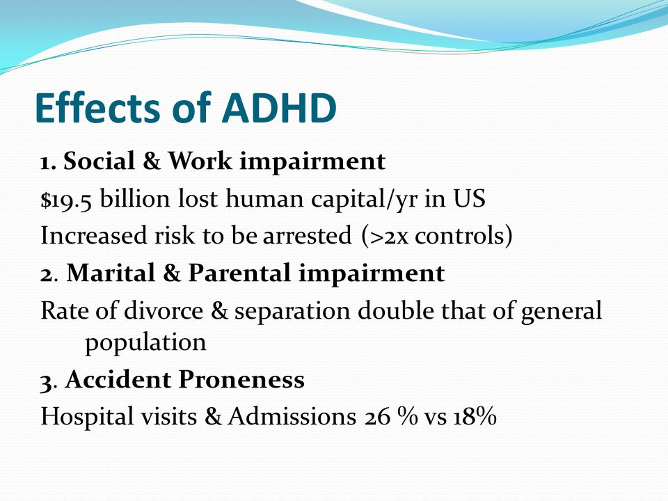 Effects of ADHD
