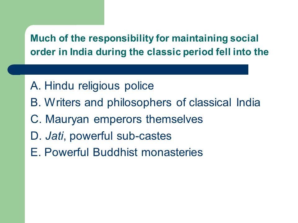 A. Hindu religious police
