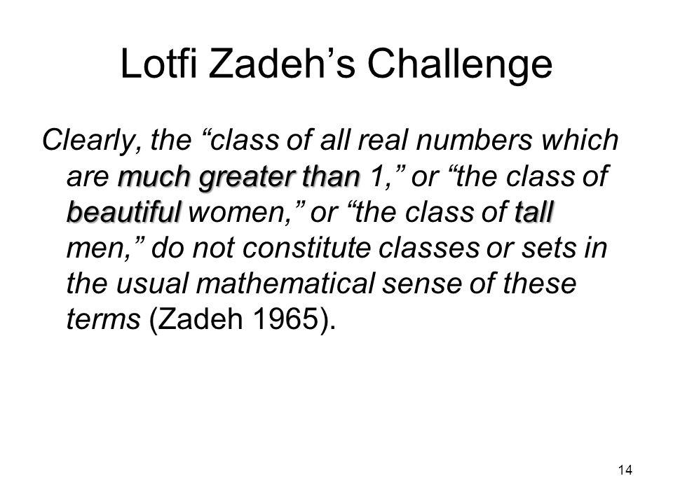 Lotfi Zadeh's Challenge