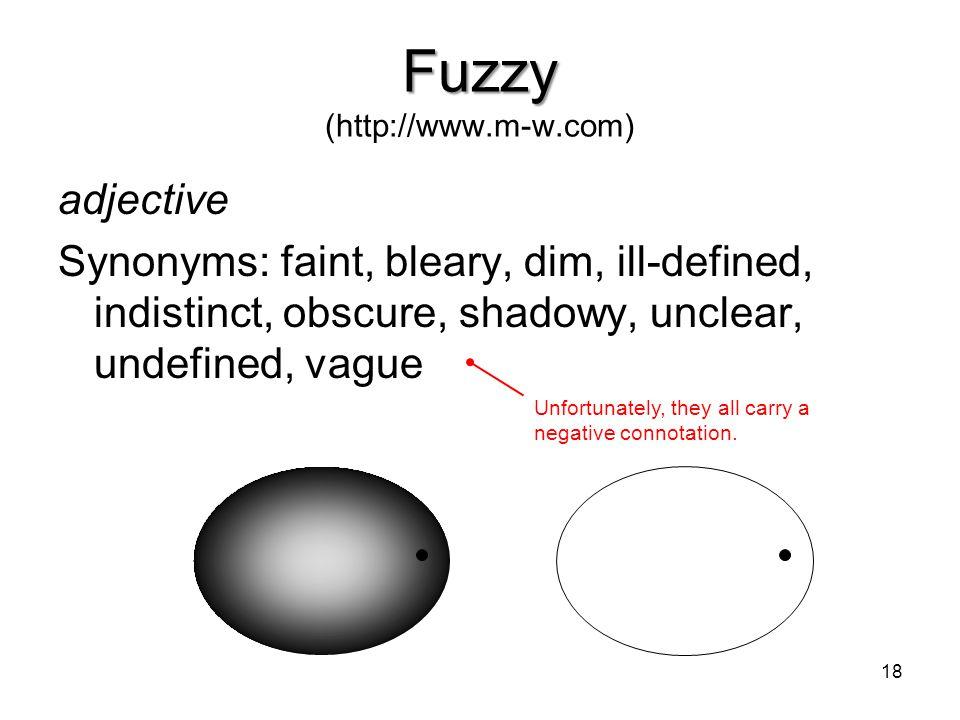 Fuzzy (http://www.m-w.com)