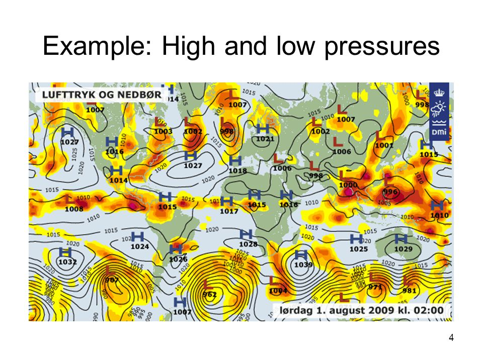 Example: High and low pressures