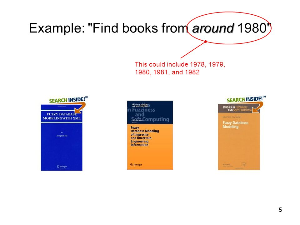 Example: Find books from around 1980