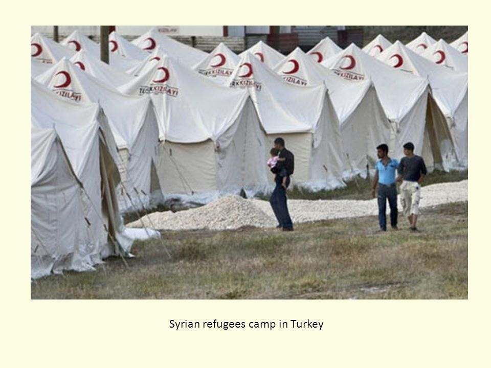 Syrian refugees camp in Turkey