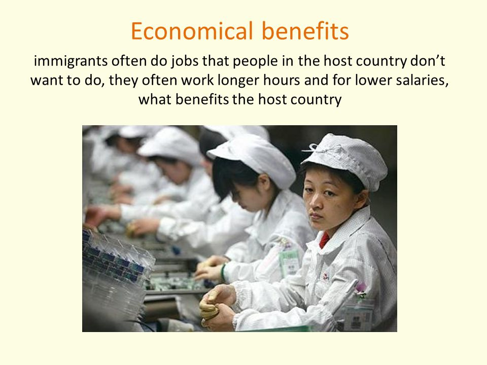 Economical benefits