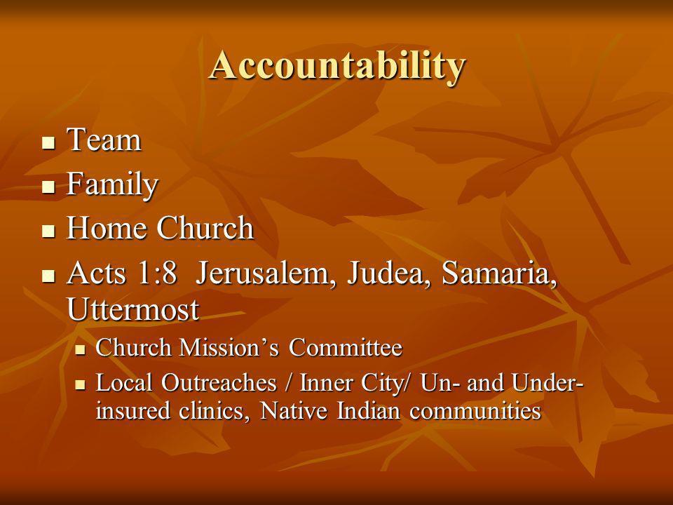 Accountability Team Family Home Church