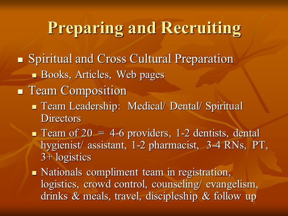 Preparing and Recruiting