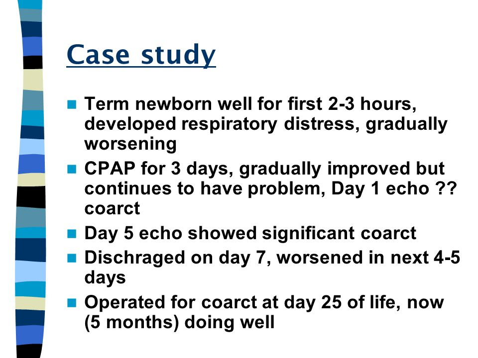 Case study Term newborn well for first 2-3 hours, developed respiratory distress, gradually worsening.