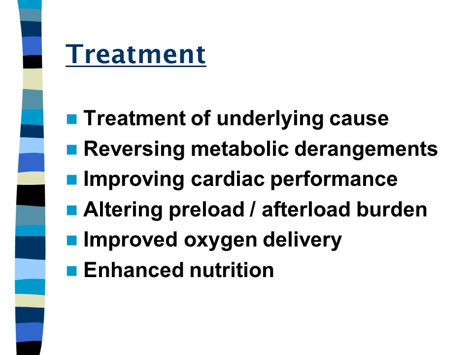 Treatment Treatment of underlying cause