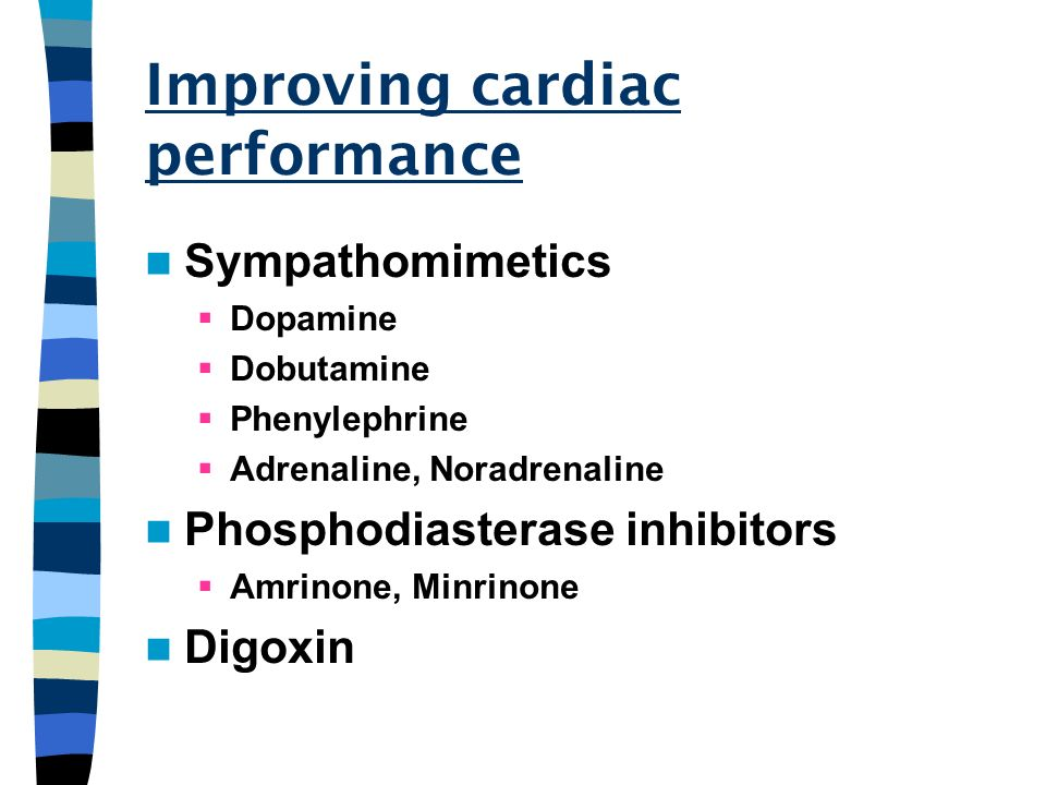 Improving cardiac performance