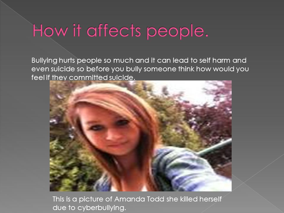 How it affects people.