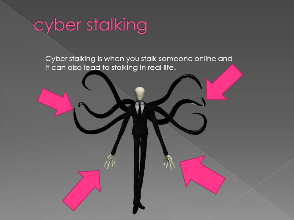 cyber stalking Cyber stalking is when you stalk someone online and it can also lead to stalking in real life.