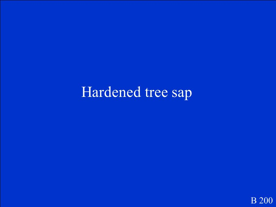 Hardened tree sap B 200