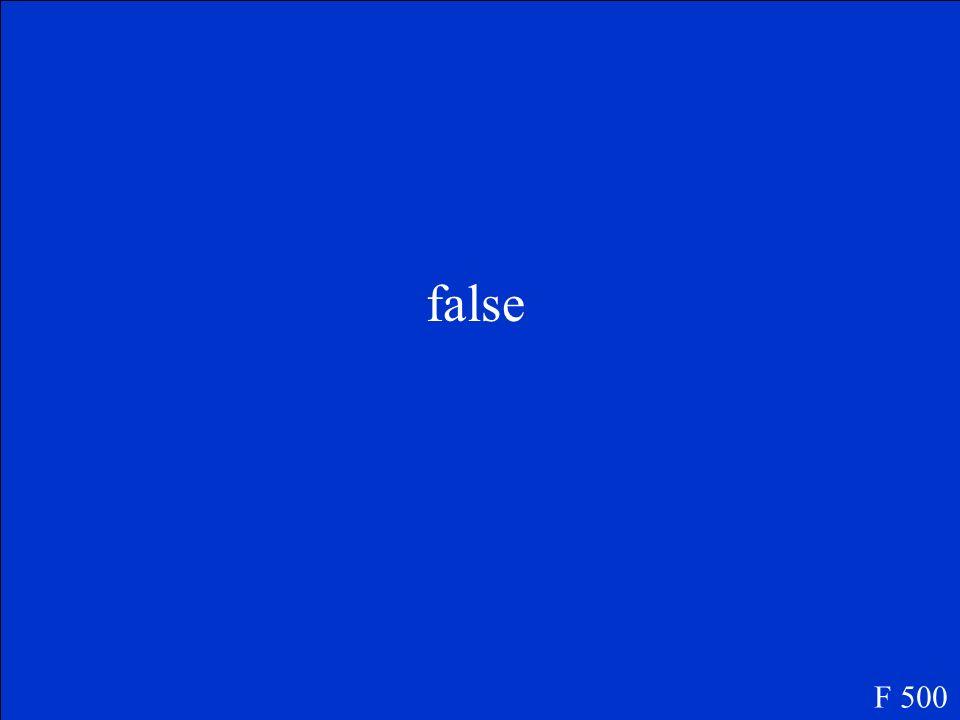 false F 500